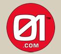 01.com logo image