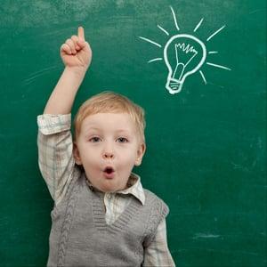 little boy, idea, light bulb, chalkboard.jpg