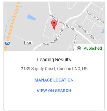 Google My Business Location Card