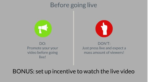 before going live
