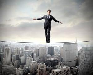 business man, tightrope, balance