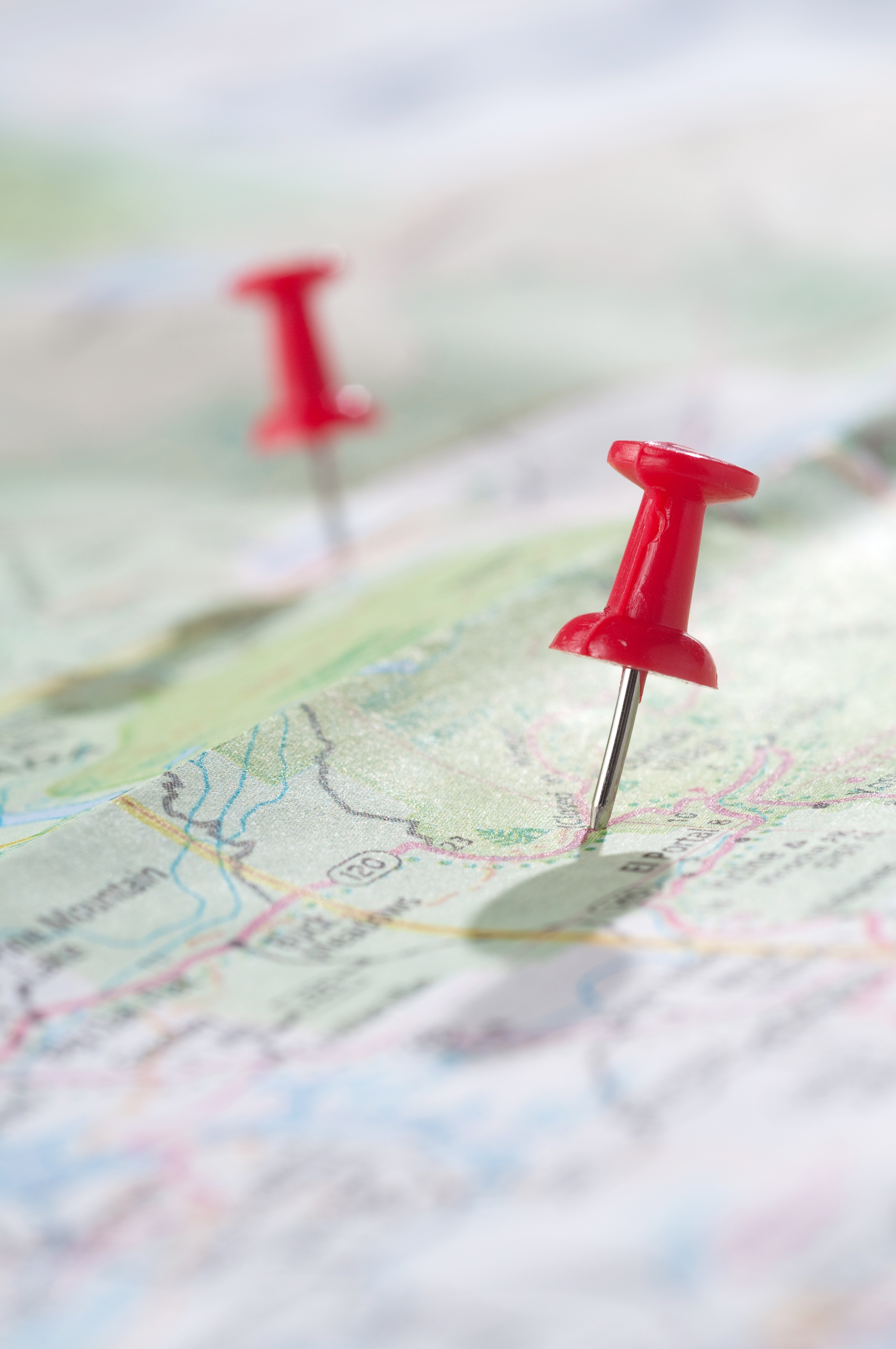 map, travel, pins, road, directions