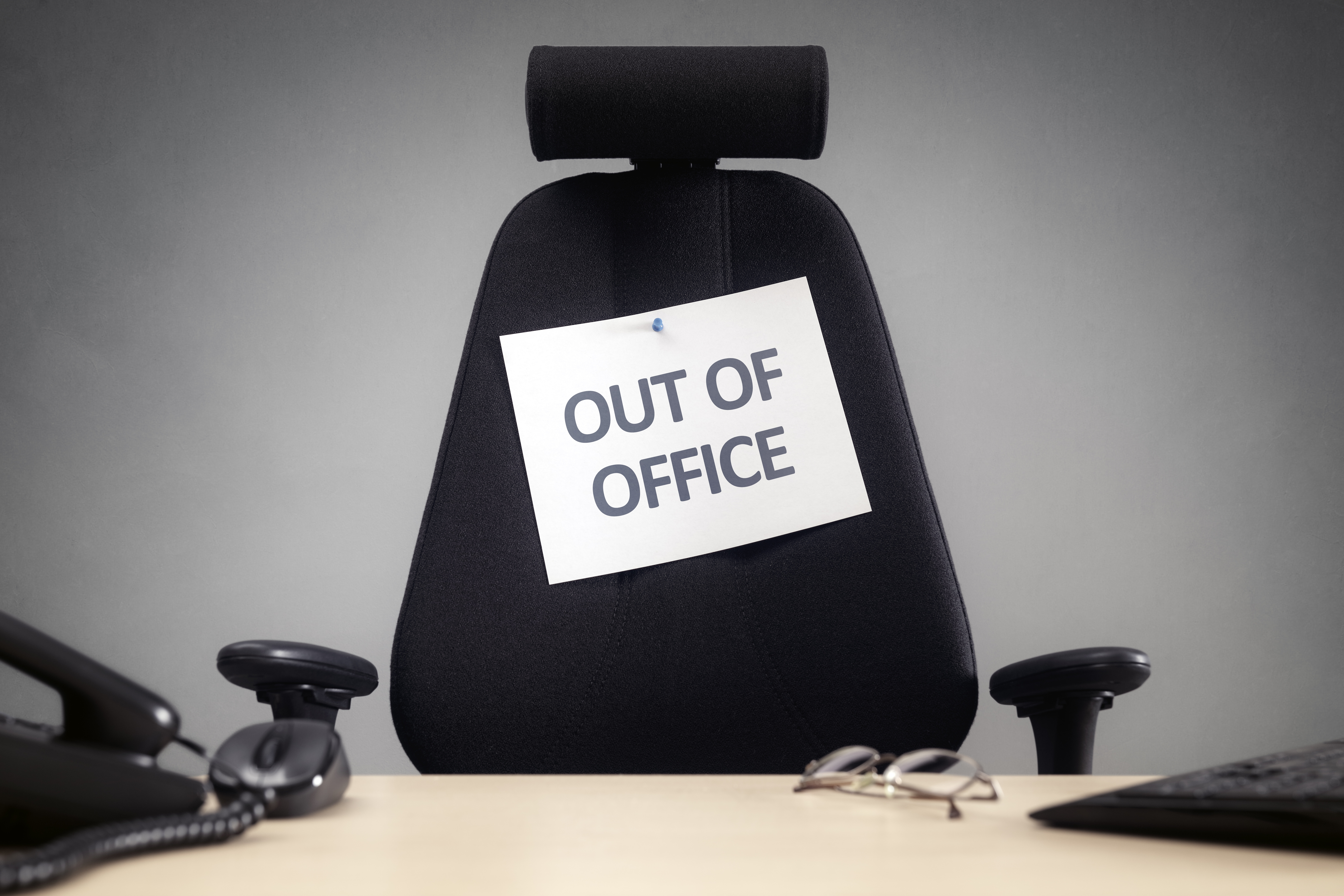 out of office chair