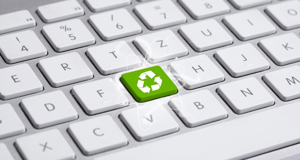 ECO keyboard, Green recycling concept