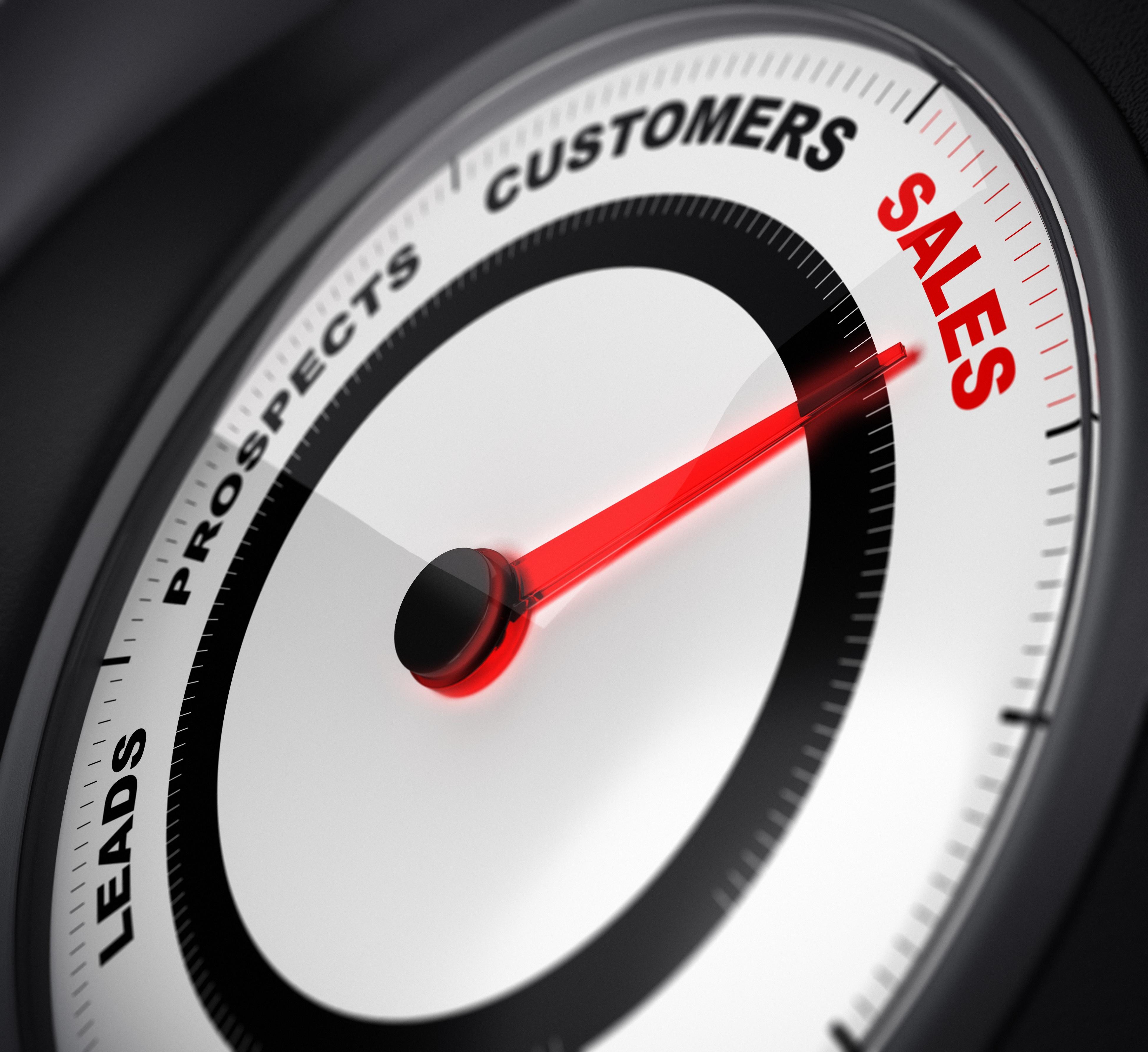 Convert Sales Speedometer